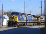 CSX 490 leans into the cruve
