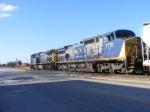 CSX 490 & 7710 lead a mixed train