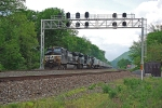 Westbound Intermodal passing Cove Signal Bridge