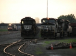 B32's power sits split apart in the yard as 22W approaches
