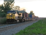 CSX 143 & 387 head east out of the sunset with Q112-13