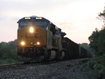 CSX 882 leads an empty coal train E494 off the EJ&E