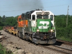 BNSF 2909 & 2169 kick up some smoke as the roll east