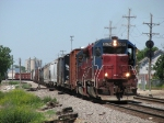 A BRC transfer heads east behind both leased HLCX units