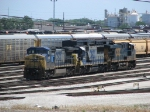 CSX 7881, 8622 & 5341 wait in Clearing's east departure yard