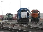 BNSF 2337 & 2038 bracket EMDX 779