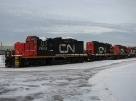 Three more GP9RM's have been tacked onto the west end of the deadline
