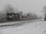 NS 2705 & 2504 head west through the snow with 23Z