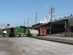 EJE 460 shoving back across Riley Street into Mittal Steel