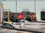CN 2569 & 5556 sitting with WC 2500