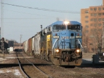CSX 7305 hammering across the EJ&E as it heads south with Q649-19