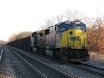 T909's power, CSX 4542 & 92, wait to run around the train