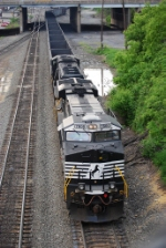 Empty Coal Hopper leaving Enola Yard