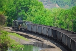 Westbound Coal Train (empty) leaves Enola Yard