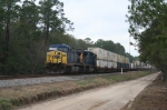 CSX 283 leads this handsome stack train