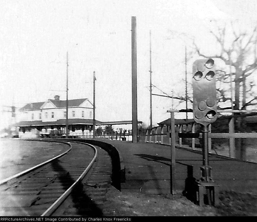 Pennsylvania Railroad westbound depot