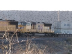 UP 5015 #3 power in an EB doublestack at 3:51pm