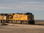 UP 5322 leads an EB doublestack at 4:16pm