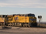 UP 7660 leads an EB autorack at 4:34pm