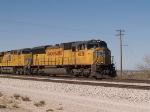 UP 4636 leads an EB doublestack at 1:13pm