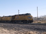 UP 7618 leads a WB doublestack at 1:21pm