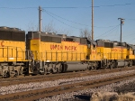 UP 1440 #2 power in a WB manifest into Alfalfa yard at 4:15pm