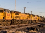 UP 9137 #4 power in MEWTU (Englewood, TX - Tucson) at 4:45pm