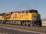 UP 7637 leads an EB manifest (MTUFW - Tucson to Fort Worth) at 3:18pm