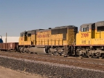 UP 4612 #3 power in an EB manifest (MTUFW - Tucson to Fort Worth) at 3:18pm