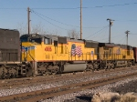 UP 4886 #3 power in a WB manifest (MFWWC - Fort Worth to West Colton) into the Alfalfa yard at 4:16pm