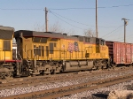 UP 5550 #4 power in a WB manifest (MFWWC - Fort Worth to West Colton) into the Alfalfa yard at 4:16pm