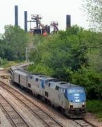 Amtrak passes Sloss Furnace