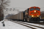 BNSF 5809 w/MBKX coal train head to the CSX.