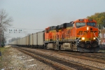 BNSF 5991 with a loaded BNSF hopper train headed to the CSX.