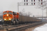 BNSF 6062 with and empty GEAX train headed back to the PRB.