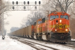 BNSF 8973 heads east with GEAX loads right before the dinky rush.