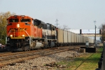 BNSF 9347 heads east with CEFX empties for PRB.