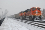 BNSF 9370 w/loaded NSTX hoppers for the CSX.