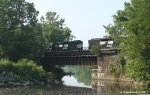 NS 3430 & 3431 rolling over the bridge