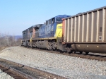 CSX #4762 and #528 lead a Westbound coal train