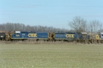 CSX units #2358 and #6958 work the yard