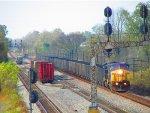 CSX #7663 & #7694 lead a Eastbound coal train
