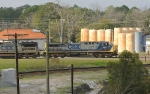 CSX Engine #1 sneaks out of the yard