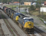Southbound freight heads south on the Jesup Sub