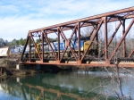 CSX 164 & 333 cross the Augusta Canal Bridge