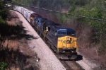 SB CSX, mixed power