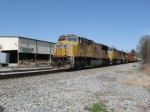 SB freight with a trio of UP SD70Ms