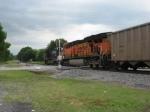 Pushers on SB BNSF coal train #735