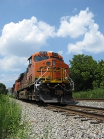 BNSF SB Scherer Coal train in the hole