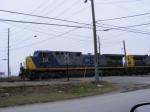 CSX 512 leads a coal train into the Yard